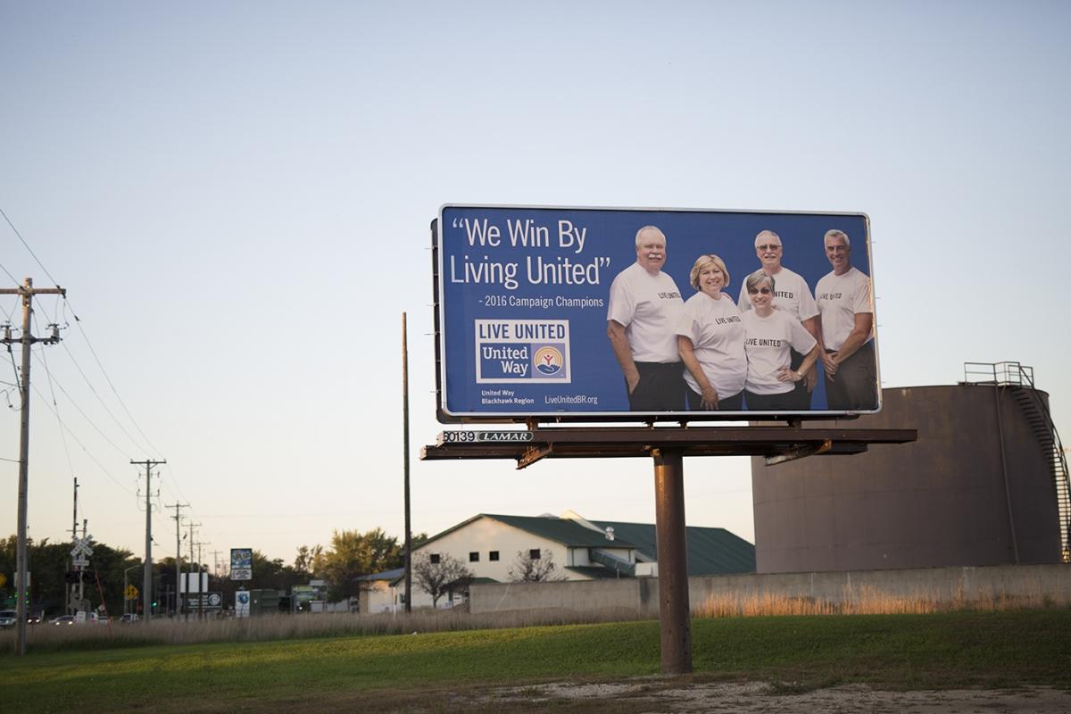 My photo on a United Way Billboard
